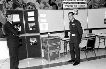 Halon Display (ICAO),Gary Taylor (left) and Capt. Tom Morehouse (USA Air Force)