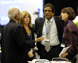 former Executive Secretary K. Madhava Sarma, Chief Officer of the Multilateral Fund Maria Nolan, Sateeaved Seebaluck, Mauritius, and Judy Beaumont, South Africa